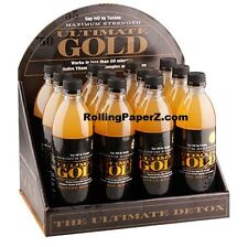 12x ULTIMATE GOLD 16 OZ DETOX DRINKS - Cleans Impurities FREE SHIPPING via UPS