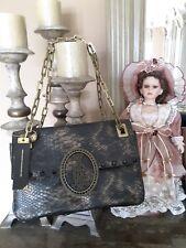 New christian audigier crocco felicia purse clutch shoulder bag medium size mult