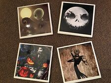 Jack Skellington Halloween ceramic coasters (set of 4) nightmare before xmas