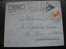 "NETHERLANDS 1934 scarce airmail cover w/ ""Postjager"" cancel!"
