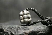 Ancienne perle en argent excavée Viking, artefact antique, 6e-11e siècle JC