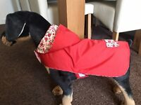 Maisie-Moo - Lightweight•S/M Dog Rain Coat fully Lined handmade length 1 5 inch
