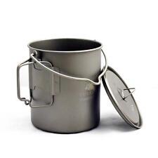 Toaks Titanium Pot Outdoor Camping Picnic Cup Cookware 750ml Pot W/ Bail Handle