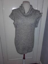 Mint Velvet grey with metal fibres long sleeveless jumper (10)