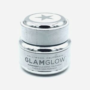 GLAMGLOW Supermud Clearing Treatment 0.5 oz/15g jar NEW, Sealed, Unboxed