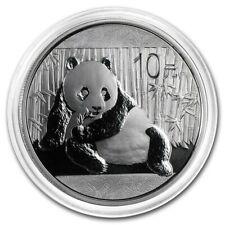 1oz Silver Panda 10 Yuan China 2015 Bullion Coin (UNC) Sous capsule