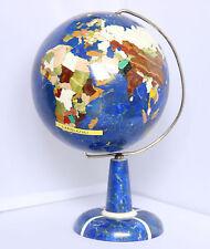 Exklusiver Lapislazuli Weltglobus verschiedene Edelsteine a. Afghanistan 2,49 Kg