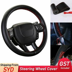 DIY PU Leather Car Auto Steering Wheel Cover With Needles and Thread Breathable