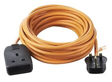 Outdoor Heavy Duty Power Socket Extension Lead 1 Gang 10A 10M Master Cable Plug