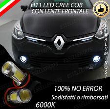 COPPIA LAMPADE FENDINEBBIA H11 LED CREE COB CANBUS PER RENAULT CLIO 4 IV 6000K