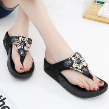 Women's Summer Sandals Bohemia Shoes Flat Clip Toe Flip flops Beach Slippers