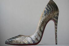 CHRISTIAN LOUBOUTIN GLITTER ZEBRA FOLLIES PIGALLE HEELS PUMPS 38 UK 5