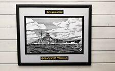 """Bilderrahmen """"Schlachtschiff BISMARCK"""", Kriegsmarine, 40x50cm"""