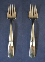 SET OF TWO - Oneida Stainless Flatware EQUATOR Serving Forks USA made *
