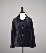 TALBOTS NEW $169 Navy Velvet Velour Swing Coat Size 6P