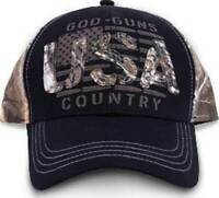 Buck Wear God Guns Country USA American Flag Camouflage Adjustable Hat Cap 9124