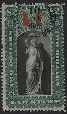 Canada VanDam # QL11 $2.00 green & black Quebec Law overprint L.C. of 1864
