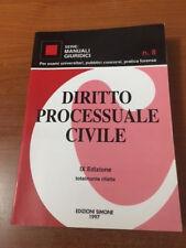 DIRITTO PROCESSUALE CIVILE IX EDIZIONE TOTALMENTE RIFATTA Ed.Simone 1997