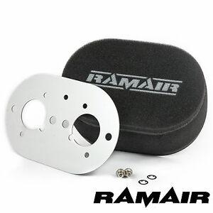RAMAIR Carb Luftfilter mit Grundplatte Weber 40 Idf 40mm Bolzen Auf
