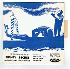 """Sidney BECHET Vinyle 45 tours EP 7"""" SUMMERTIME - PETITE FLEUR - VOGUE 7008 RARE"""