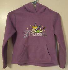 Disney Tinkerbell Hoodie Pullover Purple Youth Size Medium EUC
