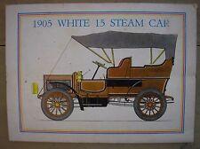 1905 WHITE 15 STEAM CAR COVER COPERTINA HISTORIA ITALY MAGAZINE 1966
