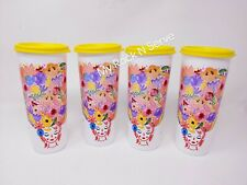 Tupperware Tumbler Cups Set of 4 Straight Sided 16 oz.