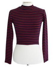 Harajuku Crop Tops T Shirt Long Sleeved Turtleneck Women Slim Short Girls Korean