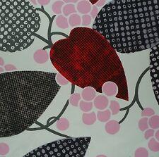 DESIGNERS GUILD Barcelona Floral Pink Brown Red Cotton Remnant New