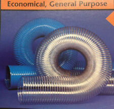 4''ID CVD BLUE PVC HOSE/DUCTING WITH WIRE HELIX, 50 Ft