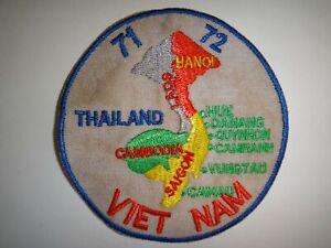 Thailand-Cambodia-Laos-Vietnam Sud-Est Asie Carte 1971-1972 Vietnam Guerre Patch
