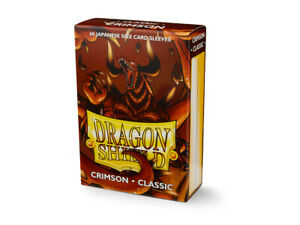 Japanese Classic Crimson 60 ct Dragon Shield Sleeves YuGiOh Size 10% OFF 2+