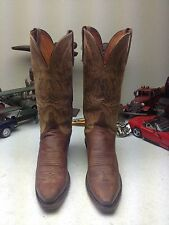 MADE IN USA 1883 LUCCHESE RUSTIC BROWN LEATHER WESTERN COWBOY DANCE BOOTS 6.5 B
