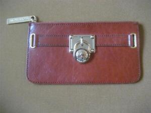 Michael Kors Zip Leather Belt Bag Brown NO Belt Gold Tone Fob 7 x 4 Fit 3/4 Belt