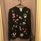 UGLY Black Tacky Christmas Full Zip Ugly Sweater by Bachamel Christmas