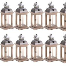 Lot 10 Rustic Wood Lantern Small Monticello Candle holder Wedding Centerpieces