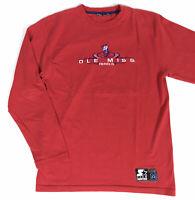 VIntage Ole Miss Rebels Colonel Reb Starter Men's Long Sleeve Shirt Size Medium