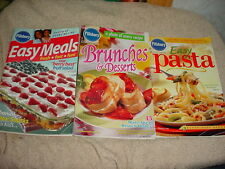 PILLSBURY EASY MEALS EASY PASTA BRUNCHES & DESSERTS COOKBOOKS LOT FREE USA SHIP