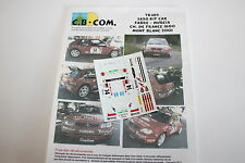 DECALS 1/43 CITROEN SAXO S1600 FABRE N°14 RALLYE MONT BLANC 2001 RMC WRC RALLY