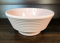 """Excellent Vintage Pink Pottery Planter Bowl 8-3/4"""" Wide x 4-1/8"""" Tall - Germany"""