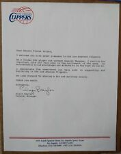 Elgin Baylor signed autographed official Clippers typed letter - true 1/1 auto