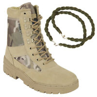 PATROL COMBAT BOOTS MULTICAM DESERT ARMY TACTICAL MILITARY WITH TROUSER TWISTS