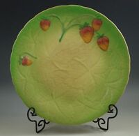 "ANTIQUE SHORTER AND SON,  STAFFORDSHIRE, STRAWBERRIES MAJOLICA 9"" PLATE,"