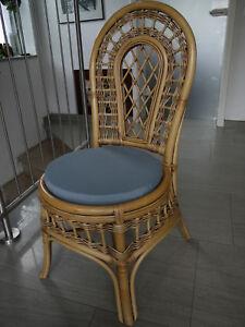 Stuhlkissen rund 40 Ø cm x 4 cm Sitzkissen taubenblau