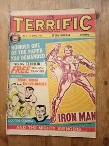 TERRIFIC COMIC ISSUE #1. No 1. 1967. GOOD. RARE. UK.