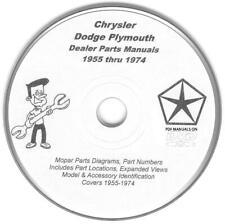 Chrysler Dodge Plymouth Mopar Challenger Roadrunner Super Bee GTX Parts Manuals