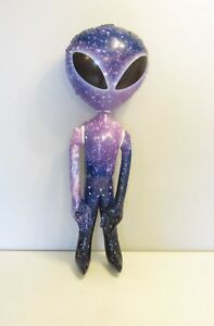 """1 NEW INFLATABLE PURPLE GALAXY SPACE ALIEN 36"""" ALIENS HALLOWEEN PARTY INFLATE"""