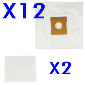 12 Vacuum Bags + 2 Filters For Hoover SMART R1 4410 4430 5001 H4012 Synthetic