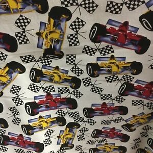 """Racing Cars Fabric curtain Upholstery material For Sale In 2.5m Piece Cotton 54"""""""