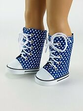 "Blue Super Star Sneaker Boots Fits 18"" American Girl Doll Clothes Shoes"